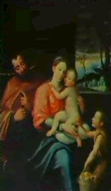 la sagrada familia con san juanito by juan fray sanchez y cotan