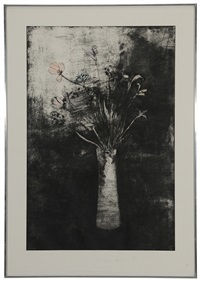 hand colored flowers by jim dine