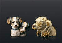 dogs bust, setter's head (2 works) by lladró