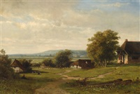 landscape with farm by johannes warnardus bilders