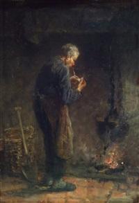 le fumeur de pipe by jozef israëls