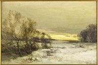 a winter's eve, east lothian by john hamilton glass