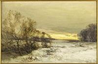 a winter's eve, east lothian by john hamilton glass
