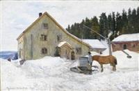gårdstun, vinter by gerhard peter franz vilhelm munthe