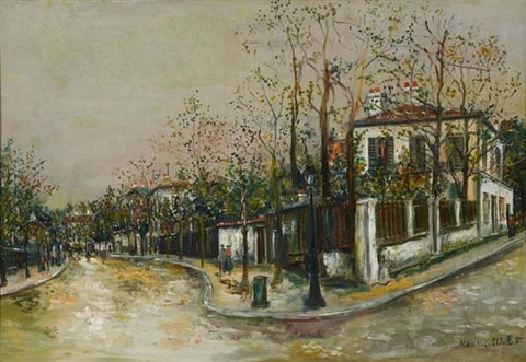 rue à sannois by maurice utrillo