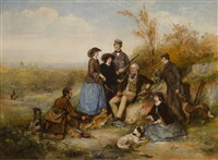 the shooting party by william powell frith