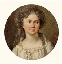 portrait de jeune fille au corsage blanc by marguerite gérard