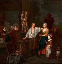 im atelier des malers by jan josef horemans the younger
