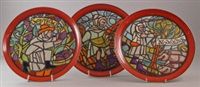 plates from the medieval calender series (11 works) by tony morris