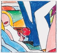 interior with nude by tom wesselmann