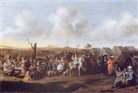 scène de campement by rutger van langevelt