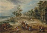 retour de marché dans la campagne flamande by theobald michau
