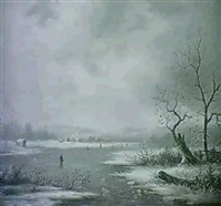 snow scene by r.g.l. leonori