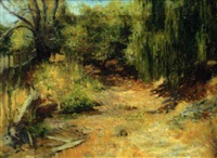 summer river landscape, san rafael by ernest clifford peixotto