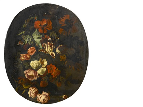 a still life with roses tulips and other flowers by simon pietersz verelst