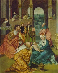 the adoration of the magi by jan swart van groningen
