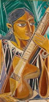 Sarangi Player, 1946