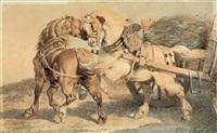 chevaux de labour by théodore fort