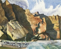 shoshone cliffs, wyoming by edward hopper