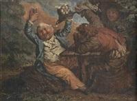 les buveurs de vin by adrien victor auger