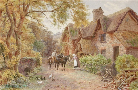 a devonshire cottage near lynton by alfred robert quinton