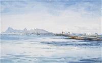 fishing on the reef, tahiti by william a. macdonald