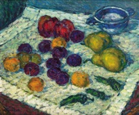 nature morte aux fruits by leonid alyanaki