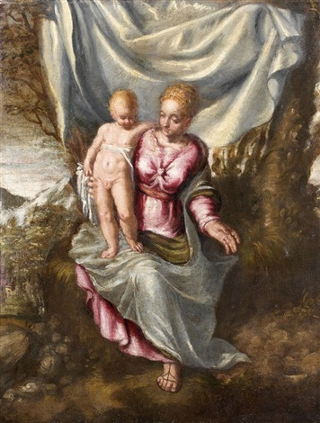 vierge à lenfant by domenico tintoretto