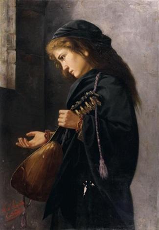 la joueuse de mandoline by angelo d agata