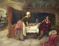 tavern scene by john sanderson-wells