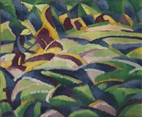 a landscape, mallorca by leo gestel