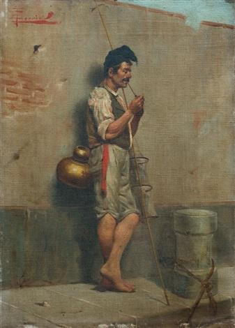 pescador fumando by e torrini