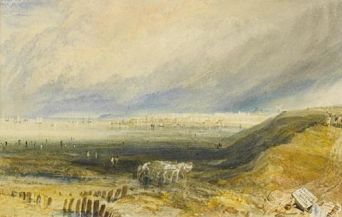 oyster beds at whitstable kent by joseph mallord william turner