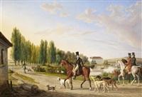 la retour de la chasse by albrecht adam