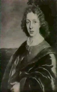 portrait of a young man in landscape by adam camerarius