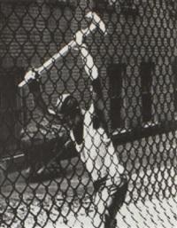 man with sledge hammer by john albok
