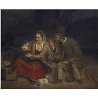 the rest on the flight into egypt by aert de gelder