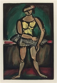 le vieux clown (from cirque d'andré suarès) by georges rouault