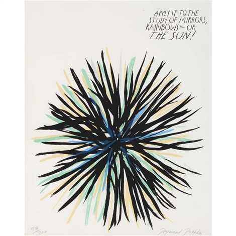untitled apply it to the study of mirrors by raymond pettibon