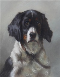 portrait of a spaniel by thomas william earl