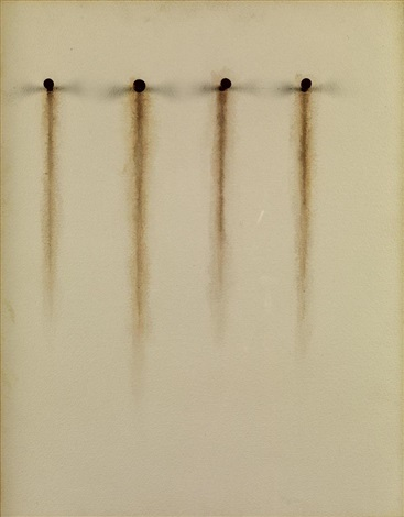 no. 409 (4 nails rust) by jiro takamatsu