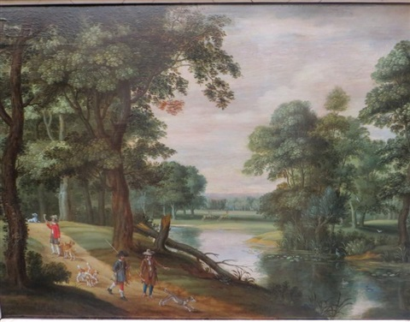 paysages animés (2 works) by isaac van oosten