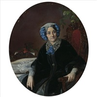 portrait of a lady by sergei konstantinovich zaryanko