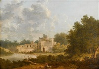 landscape with castle by thomas doughty