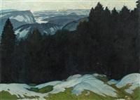 gebirgslandschaft im vorfrühling by oskar mulley