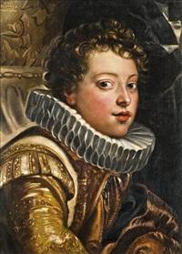az ifjú gonzaga herceg portréja (after p.p. rubens) by adolf peschek