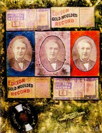 edison gold record by pietro psaier and andy warhol