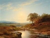 landscape by cornelis lieste