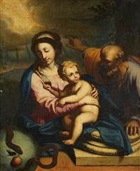 la sainte famille avec une allégorie de la rédemption by nicolas mignard