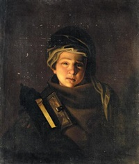portrait of a young boy by henry robert morland
